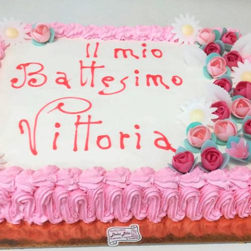 TORTA BATTESIMO CN CREMA CHANTILLY